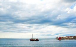 Fartyg Piran royaltyfri fotografi