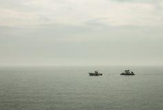 Fartyg som drar fartyget Royaltyfri Foto