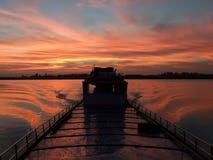 fartyg som fiskar den kaladan floden Fotografering för Bildbyråer