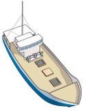 fartyg som fiskar den spiny isometriska humret royaltyfri illustrationer