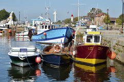 fartyg som fiskar france honfleurport Royaltyfri Fotografi