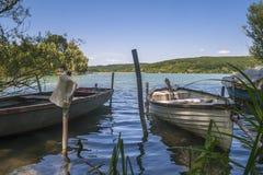 fartyg som fiskar gammala två Royaltyfri Foto