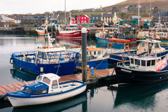 fartyg som fiskar hamn dingle ireland Arkivfoton