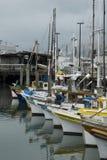 fartyg som fiskar hamnplatsen royaltyfri foto