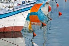 fartyg som fiskar israel gammala jaffa Royaltyfri Bild