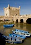 fartyg som fiskar port Arkivbild