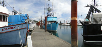 fartyg som fiskar rest Royaltyfri Bild