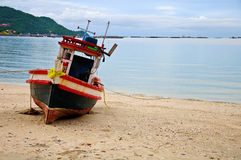 fartyg som fiskar thailand Royaltyfri Bild
