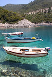 fartyg som fiskar tre Royaltyfria Bilder