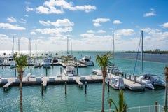 Fartyg som parkeras i Key West, Florida Arkivfoton