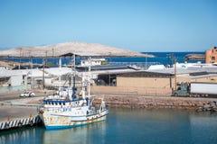 Fartyg som vilar i en solig dag i Baja California, Mexico Royaltyfria Bilder