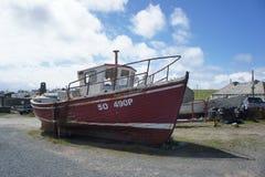 Fartyg Tory Island, Donegal Arkivbilder