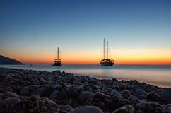 fartyg två Arkivbilder