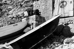 Fartyg två ankrade arkivfoto