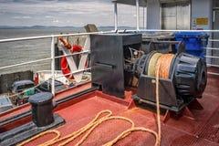 Fartygankarkran Fotografering för Bildbyråer