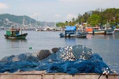 fartygbrazil de fiske janeiro rio Royaltyfria Foton