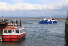 fartygbred flodmynningfleetwood wyre Arkivbilder