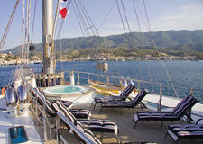 Fartygdäck Royaltyfri Foto