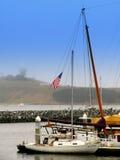fartygdocken seglar Arkivbilder