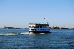 Fartygen är i New York Royaltyfri Foto