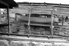 fartygescaloformentera stänger strandade trä Arkivbilder