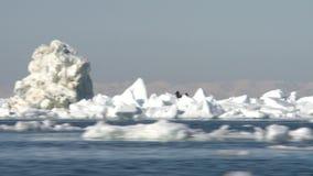 Fartyget flyttar sig bland isen i Nordsjö arkivfilmer