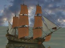 fartyget piratkopierar Royaltyfri Bild