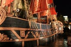 fartyget piratkopierar Arkivbilder