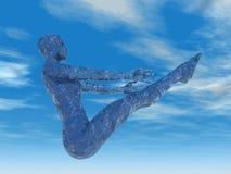 fartyget poserar full yoga Arkivfoton