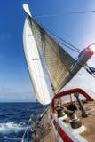 fartyget seglar Royaltyfri Fotografi