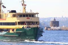 fartygfärjahamn sydney Arkivbild