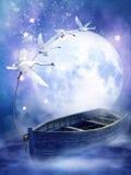 fartygfantasiswans stock illustrationer