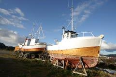 fartygfishig reparerade två Royaltyfri Bild