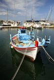 fartygfiskegreece paros Arkivbilder
