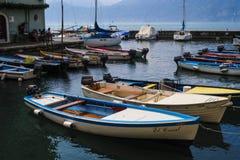 fartyggardaitaly lake Arkivfoto