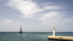 Fartygkryssning på det Meditarean havet i Turkiet Royaltyfri Foto
