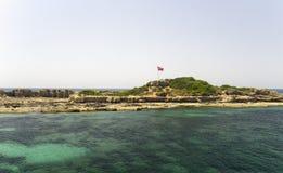 Fartygkryssning på det Meditarean havet i Turkiet Royaltyfria Bilder
