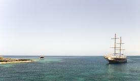 Fartygkryssning på det Meditarean havet i Turkiet Arkivfoto