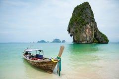 fartyglongtail thailand Fotografering för Bildbyråer