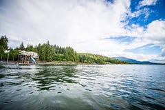 Fartygmarina nära juneau alaska Arkivbilder