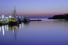 fartygmykonos Royaltyfria Bilder