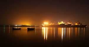 fartygnattships Royaltyfria Bilder