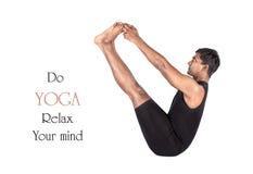 fartygnaukasanaen poserar yoga Royaltyfri Bild