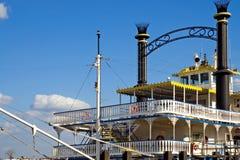 fartygNew Orleans flod Fotografering för Bildbyråer