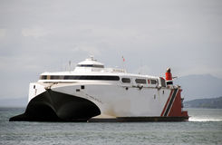 fartygpendlarefärja till tobago trinidad Arkivbilder
