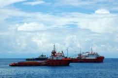 fartygräddningsaktion Fotografering för Bildbyråer