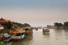 Fartygresande i Thailand arkivbild
