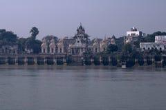 Fartygritt på floden Ganges royaltyfri bild