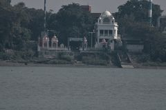 Fartygritt på floden Ganges arkivfoto