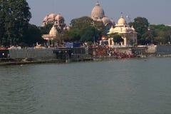 Fartygritt på floden Ganges royaltyfria bilder